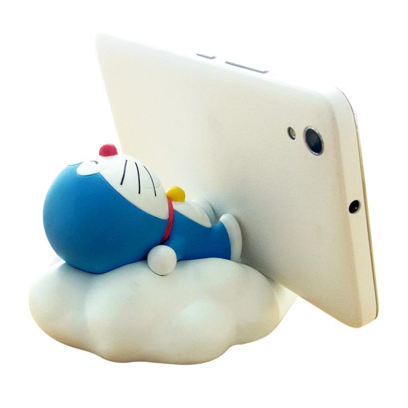 哆啦A梦叮当猫手机座蓝胖子支架摆件 云朵手机座